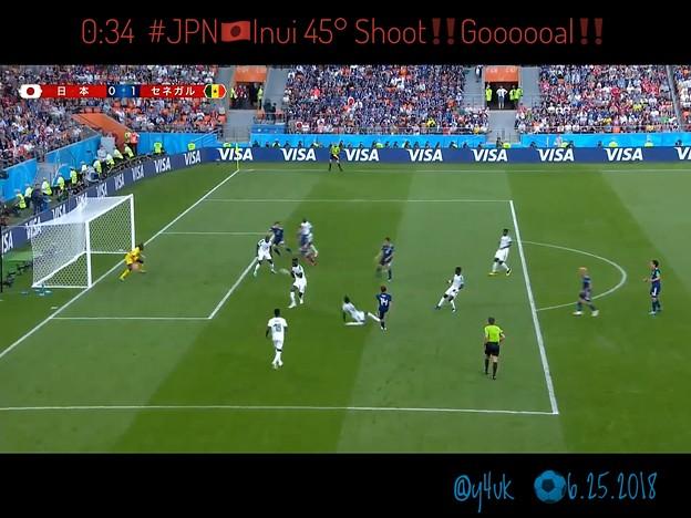0:34 #JPN 乾貴士へボールが!得意の45°シュート!ゴール!長友佑都のボール離れたとこにInuiが中央へパスせず自ら打つ強さの日本代表☆Shoot Perfect Sexy Gooooal!!