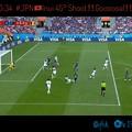 写真: 0:34 #JPN 乾貴士へボールが!得意の45°シュート!ゴール!長友佑都のボール離れたとこにInuiが中央へパスせず自ら打つ強さの日本代表☆Shoot Perfect Sexy Gooooal!!