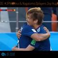 写真: 0:35 #JPN 乾貴士Inui&長友佑都Nagatomo笑顔でhugハグ!2人とも左から攻めた同士。素晴らしい喜び(o^^o)日本らしさ!仲良し!素晴らしい光景☆笑顔(^-^)飾っときたい写真立て