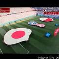 写真: 22:52 #JPN日の丸の赤が黄色だと目玉焼き35℃試合 vs #POL~始まる高揚感☆日本代表運命の3戦、決戦Tへキメる☆キックオフまで6分