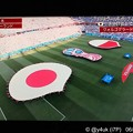 Photos: 22:52 #JPN日の丸の赤が黄色だと目玉焼き35℃試合 vs #POL~始まる高揚感☆日本代表運命の3戦、決戦Tへキメる☆キックオフまで6分