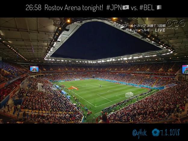 "26:58 ""Rostov Arena"" tonight! #JPN vs. #BEL~初の涼しい観やすい夜試合☆美しく大きいスタジアム景色☆ロシア夜空の下でドラマが生まれた☆素晴らしい日本代表の闘い"