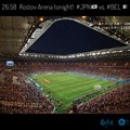 """Photos: 26:58 """"Rostov Arena"""" tonight! #JPN vs. #BEL~初の涼しい観やすい夜試合☆美しく大きいスタジアム景色☆ロシア夜空の下でドラマが生まれた☆素晴らしい日本代表の闘い"""