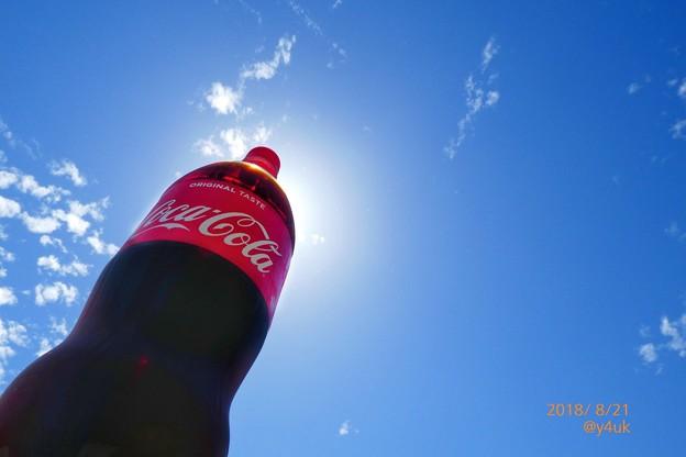 コーラに隠れた太陽と爽やか青空!夏空!Again to My summer sky in Coke~蒸し暑さ再び(クリエイティブ:POP)綾瀬はるかCMの笑顔で飲みたい秋田(金農)会いたい純朴温かい心