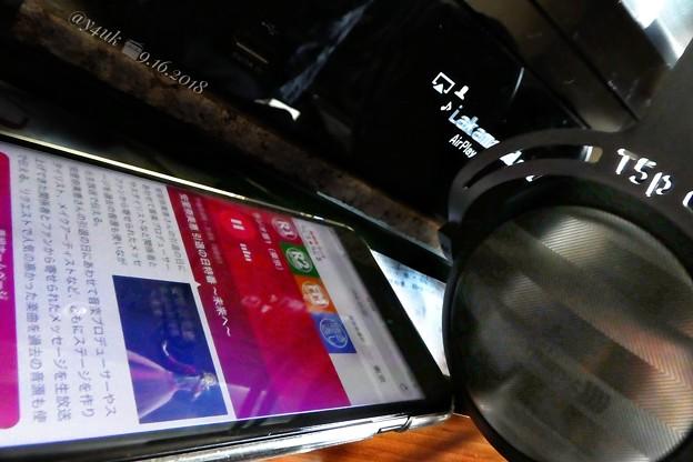 """9.16NHKラジオ第1→iPhoneネット配信→AirPlay DENON→T5p2nd→""""安室奈美恵 引退の日特番~未来へ~""""プロ達ファン達が放つ温かさ曲と愛溢れる3h特番。最後アナ涙声で〆…感動"""