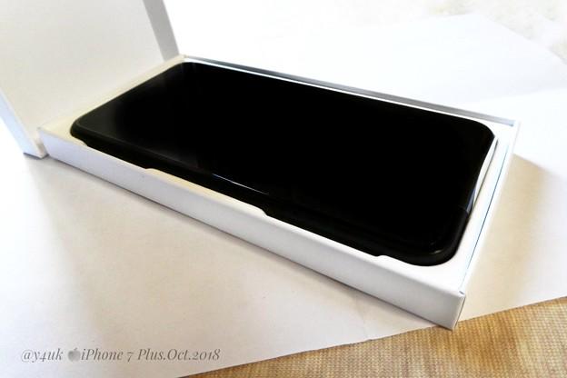 "Photos: Renew ""iPhone 7 Plus"" in Apple White Box~交換専用箱純白~本体は全く同じ新品交換、2年ケア代払ったおかげ1度きり無償交換、もう保険は無い~Black color"