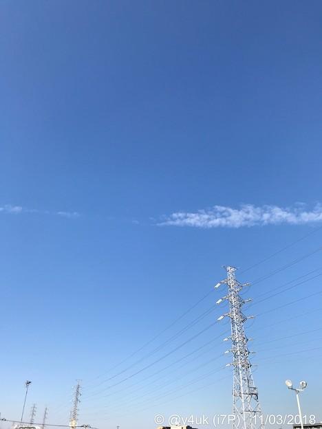 今年も秋晴れた晴れの特異日~文化の日!日光浴が気持ちいい23℃待ちわびる鉄塔たちと人間たち☆ブルーインパルス飛行直前13:26旅先到着~今年も無理して来た。近い場所で遠い開催~大空に飛ぼう~冬も始まる