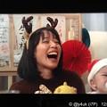 """Photos: 9話:戸田恵梨香(尚)「トナカイさんで爆笑」我が子にムロパパサンタさん泣かれて素顔の爆笑トナカイカチューシャも可愛くて笑顔でショートで&我が子(恵一くん)「(ムロサンタこわい)号泣」Xmas""""大恋愛"""""""
