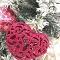 写真: Warm Heat Snow Xmas :)~積もるクリスマスツリー(マツコも好きなツリー)~赤い愛情の心をください。温かい人が好き。温かい世界が好き。温かいXmasが好き。Love Heart