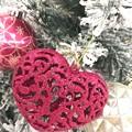 Photos: Warm Heat Snow Xmas :)~積もるクリスマスツリー(マツコも好きなツリー)~赤い愛情の心をください。温かい人が好き。温かい世界が好き。温かいXmasが好き。Love Heart