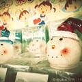 Photos: それをスノーマンの首と子どもたちが眺めていた~視線に頬を赤らめ照れて可愛い純粋~Snowman head's & Children's Eye Xmas night..(retouch:infltr)