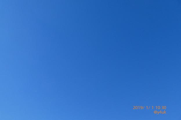 Photos: 10:30_2019Start!平成最後の元日、穏やか青空BlueSky!1~6の中からお選びください。本年こそ良い年で希望の光と愛に包まれ笑顔平和に過酷人も体調も少なく自分らしく飛べる様。宜しくです