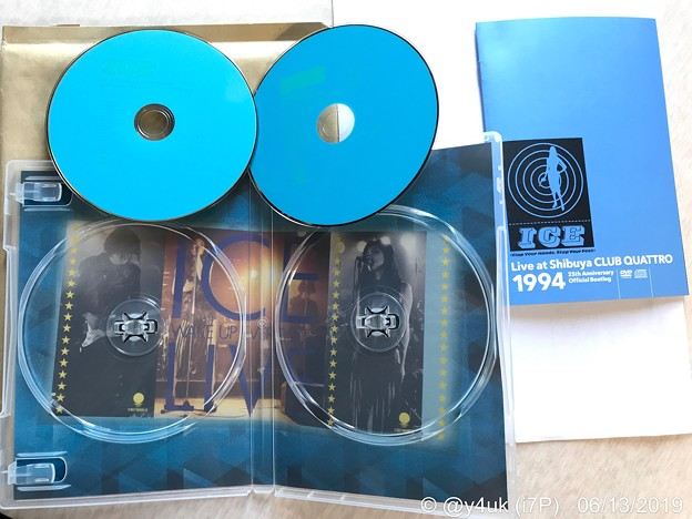 """ICE""Live at Shibuya CLUB QUATTRO 1994~25th Anniversary Official Bootleg~中ジャケもCool Blueカッコいい♪DVD+CD"