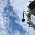 """1Year to Go""""TOKYO2020""""五輪まで#あと1年、ちょうど2019.7.24~梅雨の晴れ間・雲の隙き間・五輪フラッグ・街灯・新緑・開発ビル建設中クレーン・街角~7.10旅の途中3蒸し暑い"""