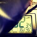 Photos: 35℃45%Hotdays art(~_~;)汗だくで無機質物体がアート写真になった~梅雨明け前日も危険温湿度中。光り輝くゼブラ金属模様はT5P2ndヘッドホン☆本日29梅雨明け~どんだけ~猛暑週間が
