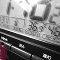 """Photos: 36.9℃48%amから24h Hotday&Night.殺人猛暑、毎日猛暑…amから深夜も30℃驚愕の温度湿度(~_~;)毎日汗だくで撮影と疲労(クリエイティブ""""ラフ・モノクロ""""/マクロ:TZ85)"""