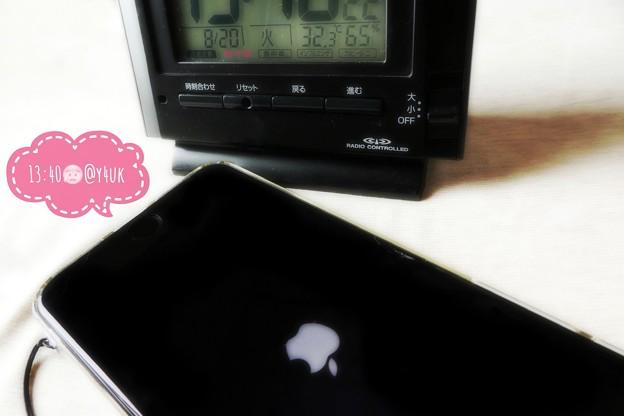 """Photos: 32.3℃65%am-pm温度若干下がり32℃充分暑いはずが涼…でも湿気が重く不快で蒸し暑い…後夕立さらに涼。iPhone7P林檎起動、虹は見れず(クリエイティブモード""""ソフトフォーカス"""":TZ85)"""