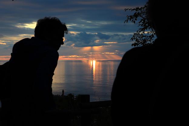 夕陽台からの夕景