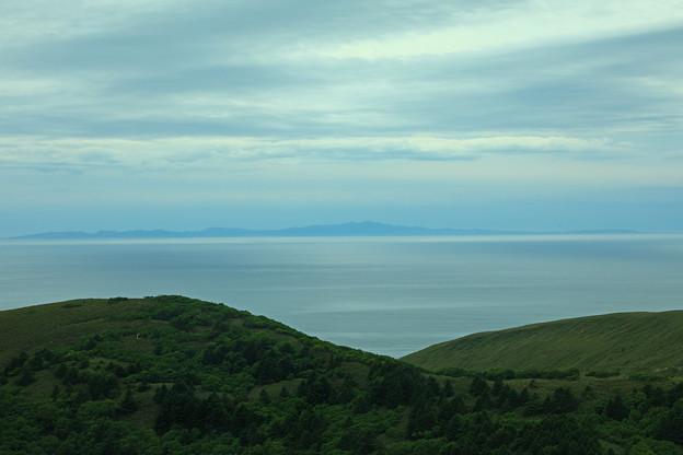 展望台から望む礼文島