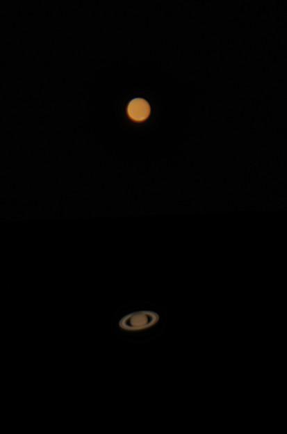火星と土星 180714