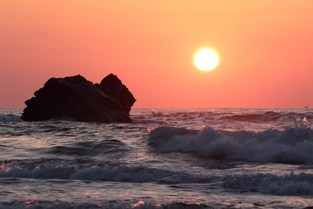 2016年2月 田ノ浦海岸での夕日