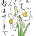 写真: 四季だより「春を待つ水仙」