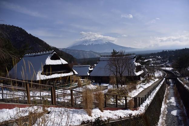 根場の冬景色