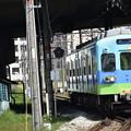 Photos: ゥォオーーー!全面塗装ばい。かっこよか~!西鉄電車 通称『にゃん電』