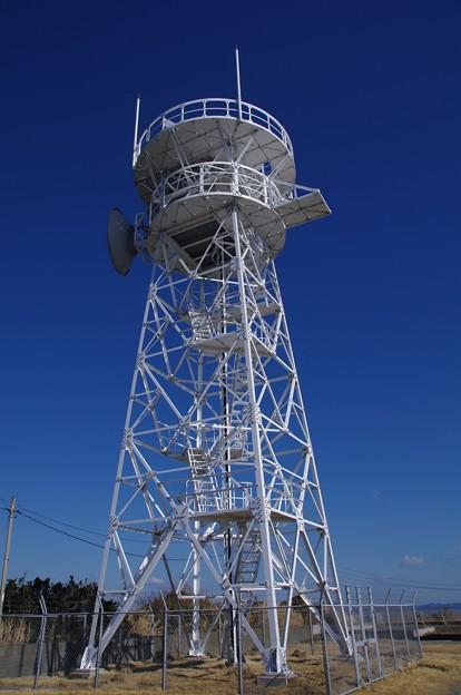 剱埼灯台のレーダー鉄塔