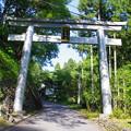 写真: 城峯神社の大鳥居