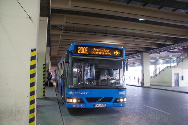 ブダペストの市バス200E