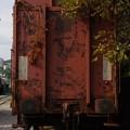 写真: 技術博物館の貨車