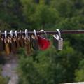 写真: エルジェーベト展望台の南京錠
