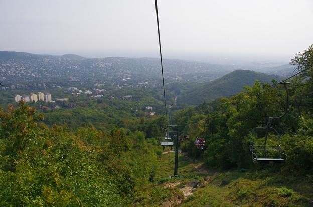 ヤーノシュ山のリフトから