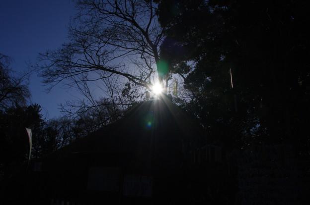 東沼神社のダイヤモンド富士