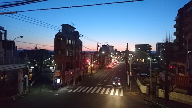 昭島の夕陽