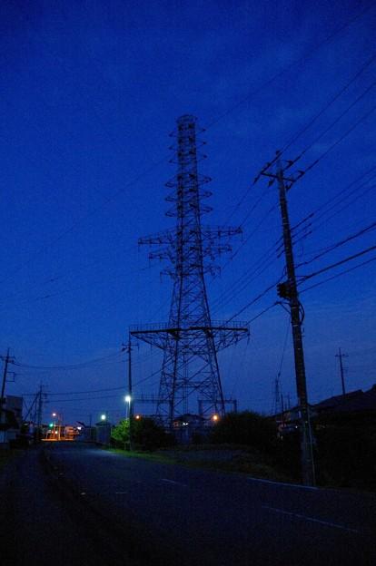 腰越変電所の鉄塔