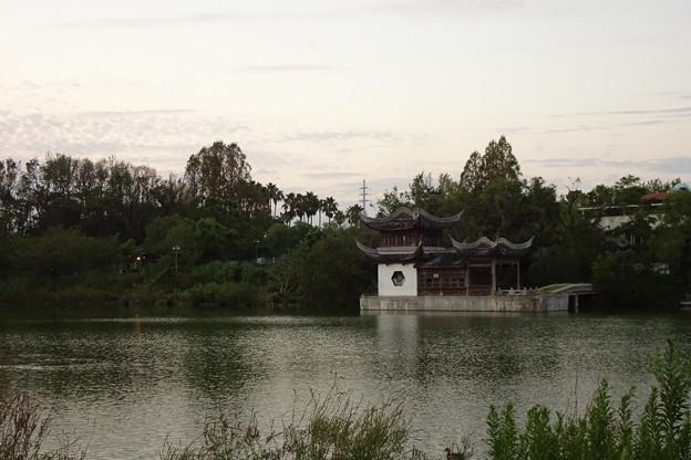 中国庭園の建物