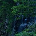 流れ落ちる滝の筋