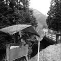 山里のスクールバス乗り場
