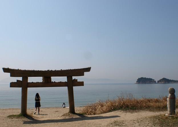 恵美須神社の鳥居:直島13