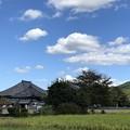 飛鳥寺秋風景