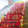 写真: 階段お雛様~両国駅