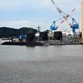 写真: 潜水艦x3 横須賀