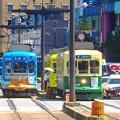 写真: 路面電車とパトカー~長崎