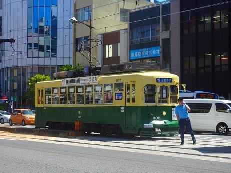 路面電車と運転士さん~長崎