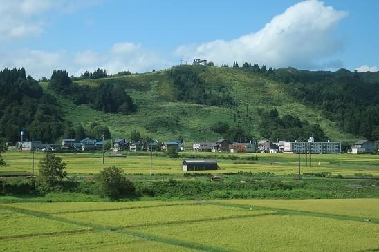 夏のゲレンデ~上越新幹線から