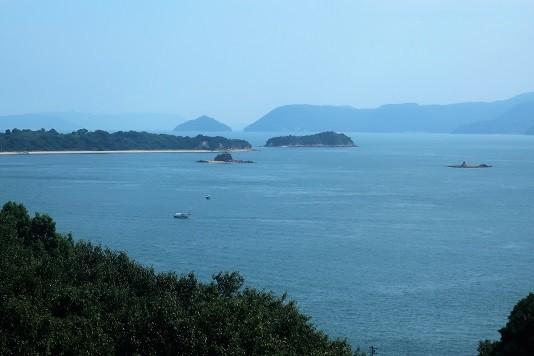 瀬戸大橋からの景色