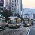写真: 広島の夕暮れ