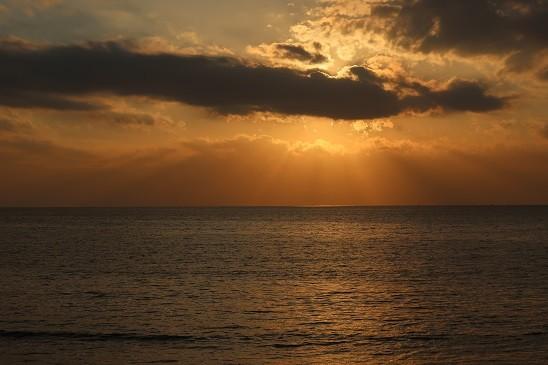 夕日~材木座海岸